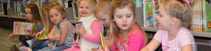 FES Preschoolers enjoy library visits. Feb. 14, 2018.