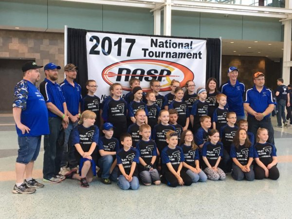 Foley Falcon Archery Team at Nationals, May, 2017.